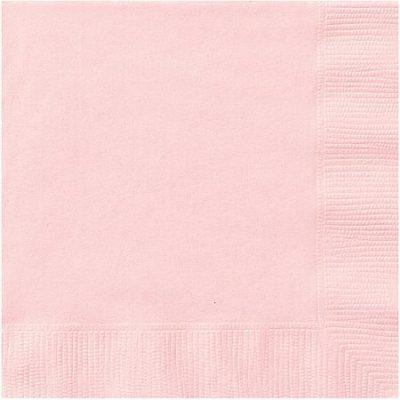 Light Pink 2Ply Plain Napkins – 50PK