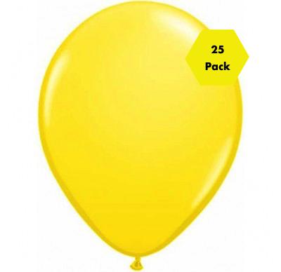 12″ Plain Balloons – Yellow 25 Pk