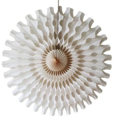 45 cm Ivory Paper Fan