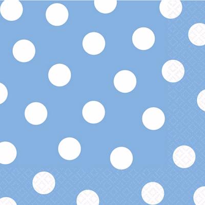 Blue Polka Dot Napkins – 20PK