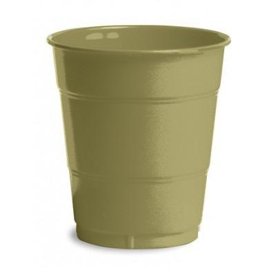 Gold Plain plastic Cups – 25PK