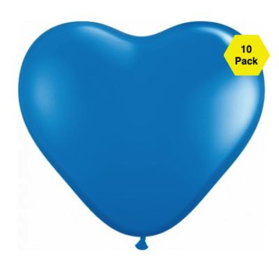 12″ Heart Shaped Balloons – Royal Blue 10 Pk