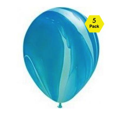 Marble Balloons – Blue 5 Pk