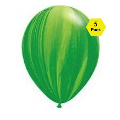 Marble Balloons – Green 5 Pk