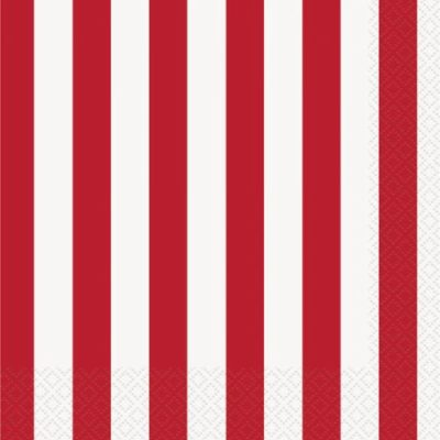 Red Stripe Napkins – 20PK
