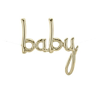 """""""Baby"""" Script Gold – Air Fill Only"""