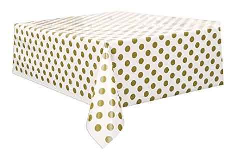 Polka Dot Rectangle Tablecover – Gold