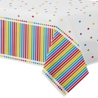 Rainbow Birthday Tablecloth