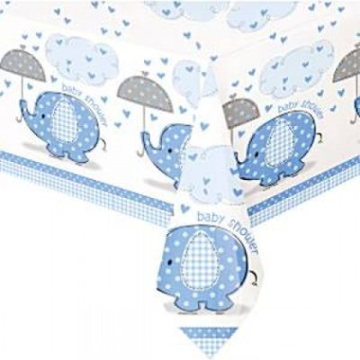 UMBRELLAPHANTS PLASTIC TABLECOVER – Blue