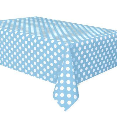 Polka Dot Rectangle Tablecover – Baby Blue