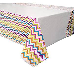 Rainbow Chevron Tablecloth
