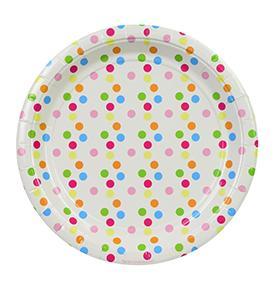 Confetti Round Party Plates – 12PK