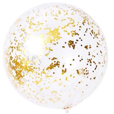 90 cm Jumbo Metallic Gold Confetti Balloon