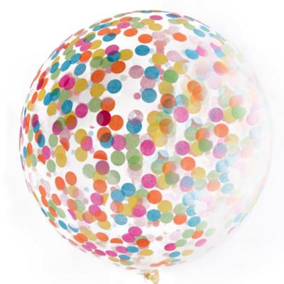 90 cm Jumbo Rainbow Confetti Balloon