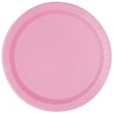 Light Pink Round Paper Plates – 16PK