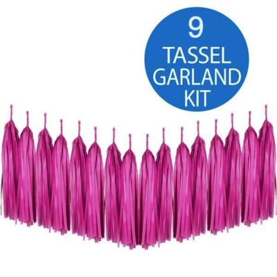 Hot Pink Tassel Garland Kit