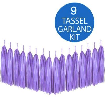 Purple Tassel Garland Kit
