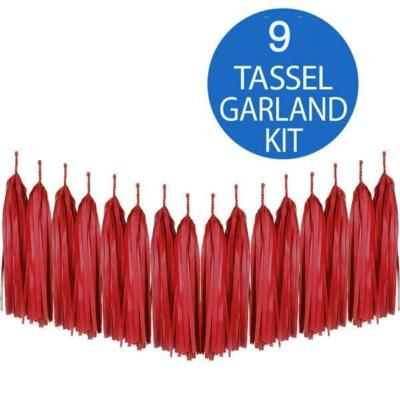 Red Tassel Garland Kit