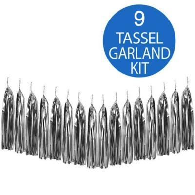 Silver Tassel Garland Kit
