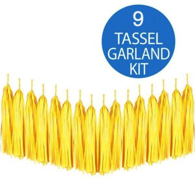 Yellow Tassel Garland Kit